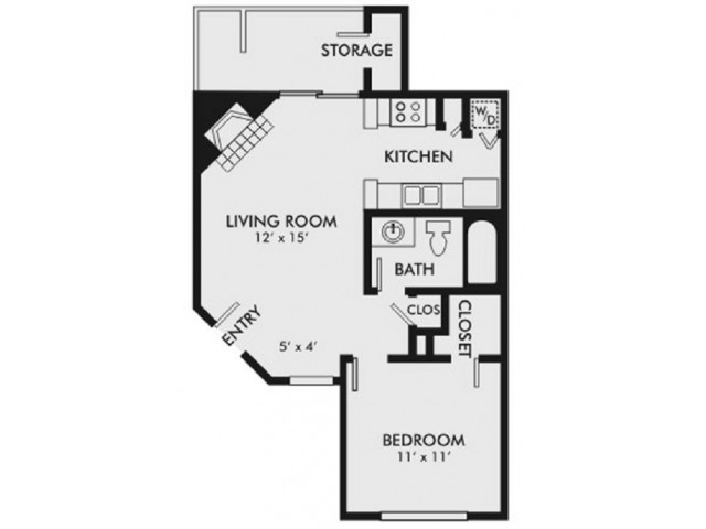 601 sq ft Renovated