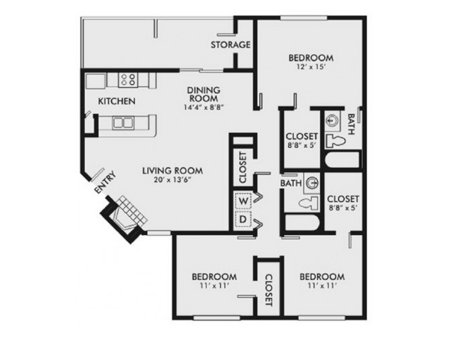 1288sq ft Renovated